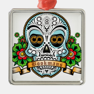 Sugar Skull Original Metal Ornament