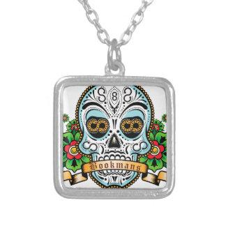 Sugar Skull Original Silver Plated Necklace