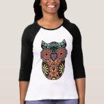 Sugar Skull Owl Colour Tshirt
