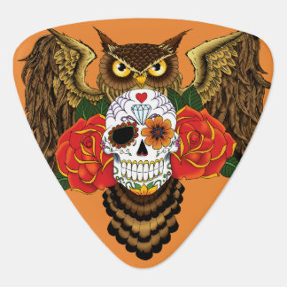 Sugar Skull Owl Guitar Pick