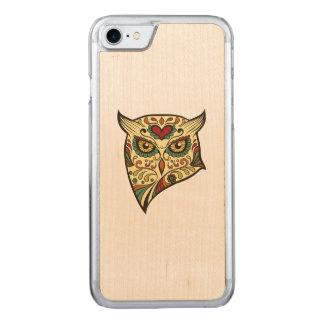 Sugar Skull Owl - Tattoo Design Carved iPhone 7 Case
