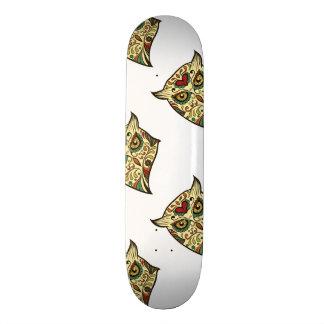 Sugar Skull Owl - Tattoo Design Skateboard