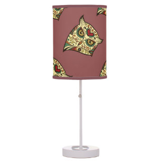 Sugar Skull Owl - Tattoo Design Table Lamp