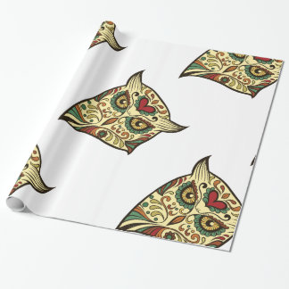 Sugar Skull Owl - Tattoo Design Wrapping Paper