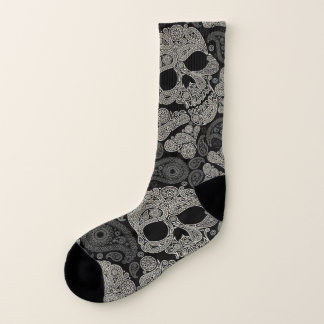 Sugar Skull Pattern All-Over-Print Socks 1