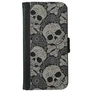 Sugar Skull Pattern iPhone 6 Wallet Case