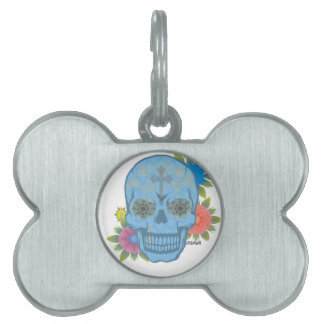 SUGAR SKULL PET TAG