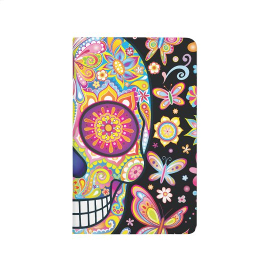 Sugar Skull Pocket Journal - Day of the Dead Art