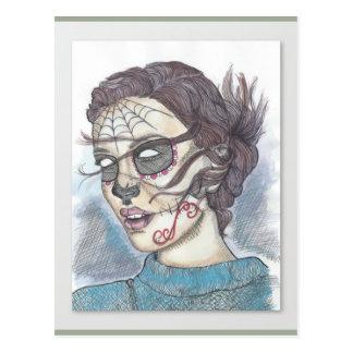 Sugar Skull postcard - Melody