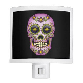 Sugar Skull Purple Floral Nite Lights