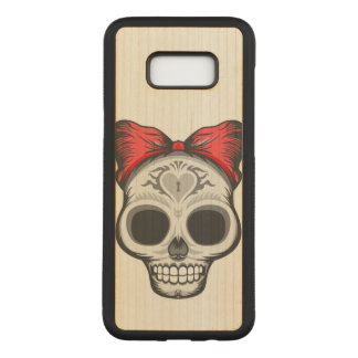 Sugar Skull (red bow) Carved Samsung Galaxy S8+ Case