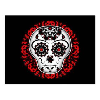 Sugar skull red version postcard