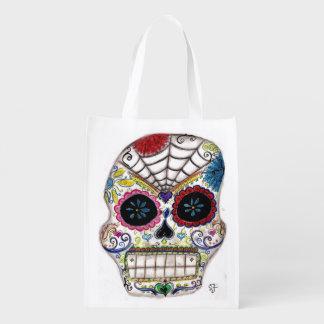 Sugar Skull Reusable Grocery Bag
