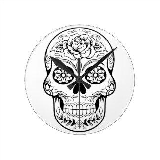 Sugar Skull Round Clock