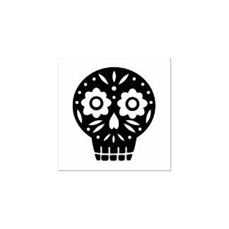 Sugar Skull Rubber Stamp
