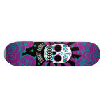 sugar skull skateboard deck