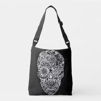 Sugar skull - Skulls Black White No12 Crossbody Bag