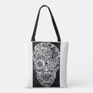 Sugar skull - Skulls Black White No13 Tote Bag