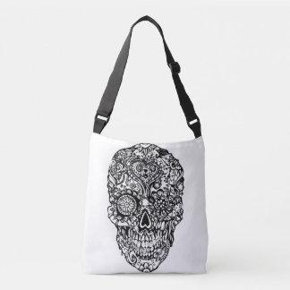 Sugar skull - Skulls Black White  No1 Crossbody Bag