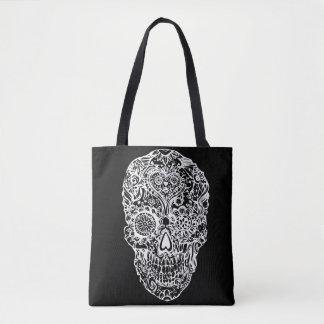 Sugar skull - Skulls Black White No2 Tote Bag
