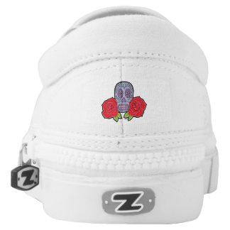 Sugar Skull Slip-On Sneakers