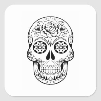 Sugar Skull Square Sticker