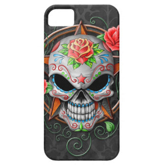 Sugar Skull Star, grey iPhone 5 Case