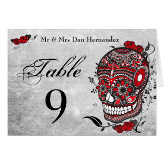 Sugar Skull  Table Number Place Cards