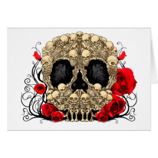 Sugar Skull - Tattoo Design Greeting Card
