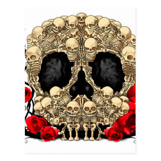 Sugar Skull - Tattoo Design Postcard