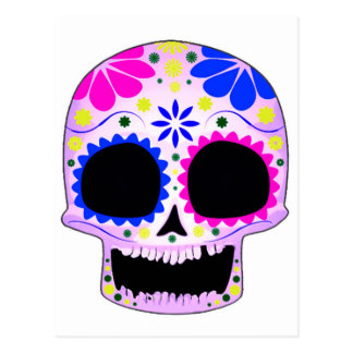 Sugar Skull - Tattoo Design Postcard