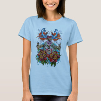 Sugar skull tattoo T-Shirt