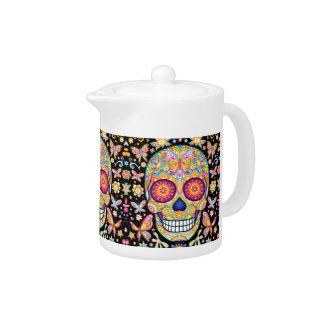 Sugar Skull Teapot - Day of the Dead Art
