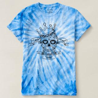 Sugar Skull Tie Dye Personalized Mens T-shirt