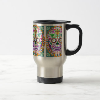Sugar Skull Travel Mug, Day of the Dead Travel Mug