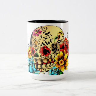 Sugar Skull Two-Tone Coffee Mug