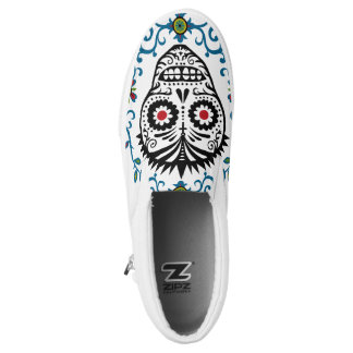 Sugar Skull Voodoo Slip-On Sneakers