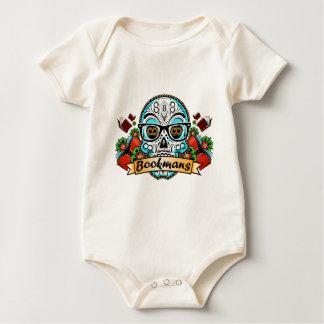 Sugar Skull W/ Glasses Baby Bodysuit