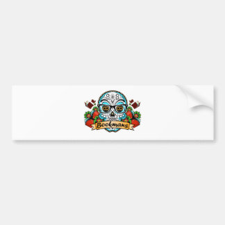 Sugar Skull W/ Glasses Bumper Sticker