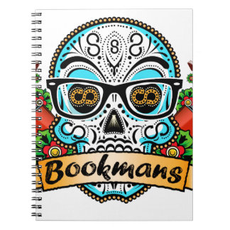 Sugar Skull W/ Glasses Notebook