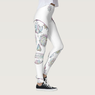 Sugar Skull with Candy Paint Leggings