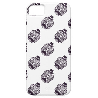 Sugar Skull with Fedora Hat iPhone 5 Case