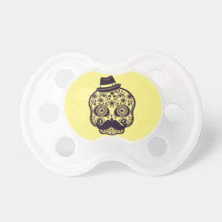 Sugar Skull with Fedora Hat Pacifiers