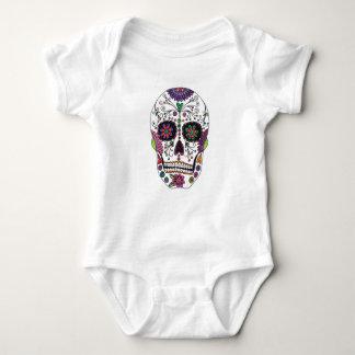 Sugar Skull with Flowers Baby Bodysuit