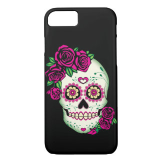 Sugar Skull with Roses iPhone 8/7 Case