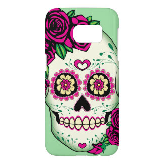 Sugar Skull with Roses Samsung Galaxy S7 Case