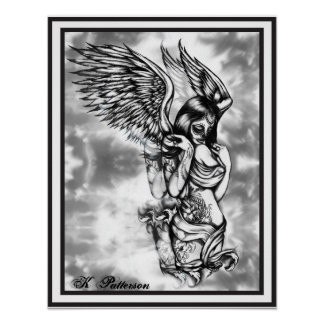 Sugar Skull with wings Poster