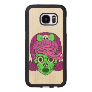 Sugar Skull Wood Samsung Galaxy S7 Case