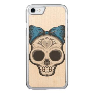 Sugar Skulll Design Carved iPhone 8/7 Case