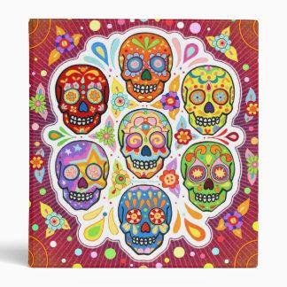 Sugar Skulls Art Binder Day of the Dead